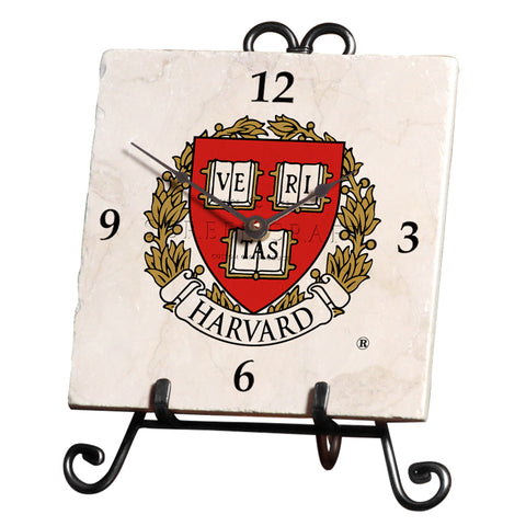 Harvard University Marble Desk Clock