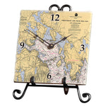Frenchman Bay, ME Marble Desk Clock