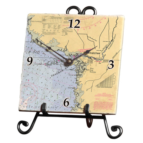 Steinhatchee, FL Marble Desk Clock