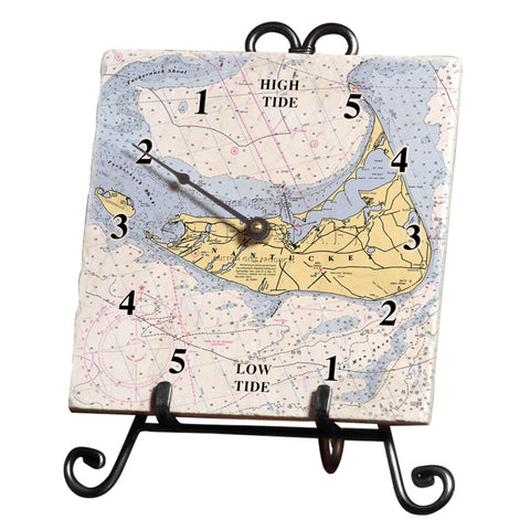 Nantucket, MA Marble Tide Clock