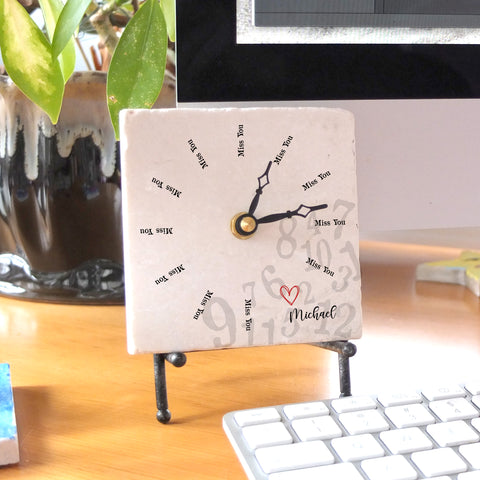 I Miss You All the Time Mini Clock