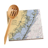 Long Beach Island, NJ Marble Trivet