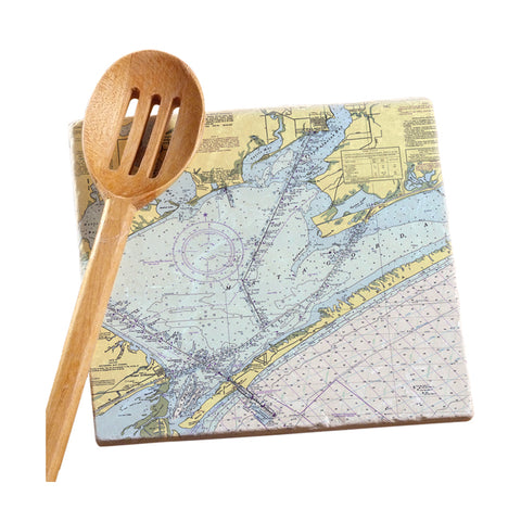 Port O'Connor, TX Marble Trivet