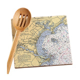 Old Orchard Beach, ME Marble Trivet