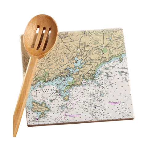 Manchester by the Sea, MA Marble Trivet