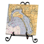 Personalized Nautical Chart Marble Trivet