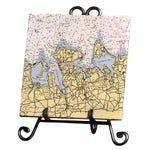 Huntington Bay, NY  Marble Trivet