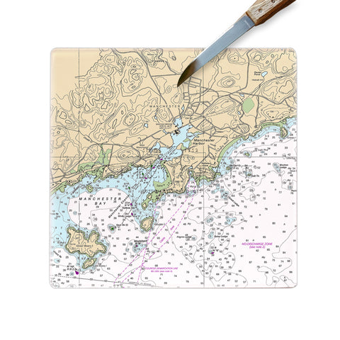 Manchester by the Sea, MA Glass Cutting Board