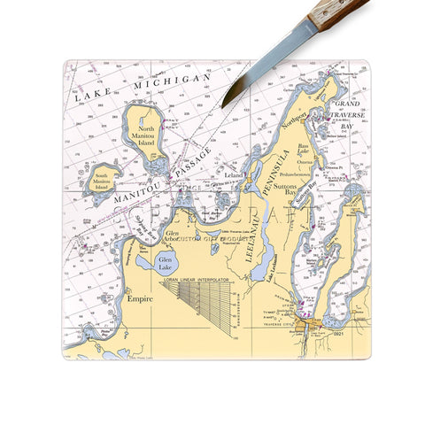 Leelanau Peninsula, MI  Glass Cutting Board