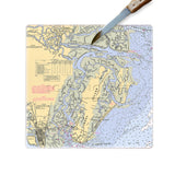 St. Simons Island, GA  Glass Cutting Board