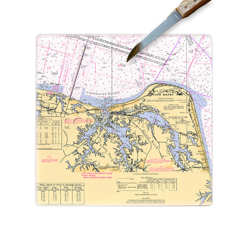 Cape Henry, VA Glass Cutting Board