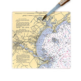 Old Orchard Beach, ME Glass Cutting Board