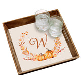 Personalized Autumn Wreath Serving Tray