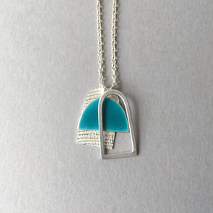 Three Shape Pendant Necklace