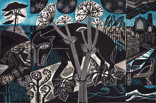 Black Shuck print by Clare Curtis