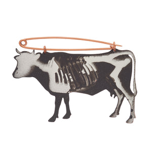 X Ray Cow Brooch