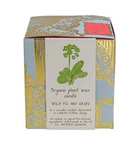 Load image into Gallery viewer, Laura's Floral Organic Candle (Wild Fig and Grape scent)