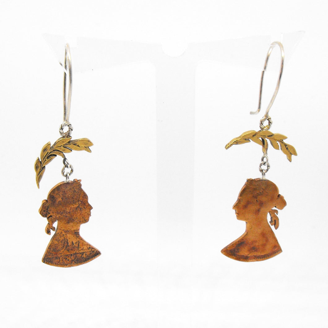 Victoria & Leaf Earrings