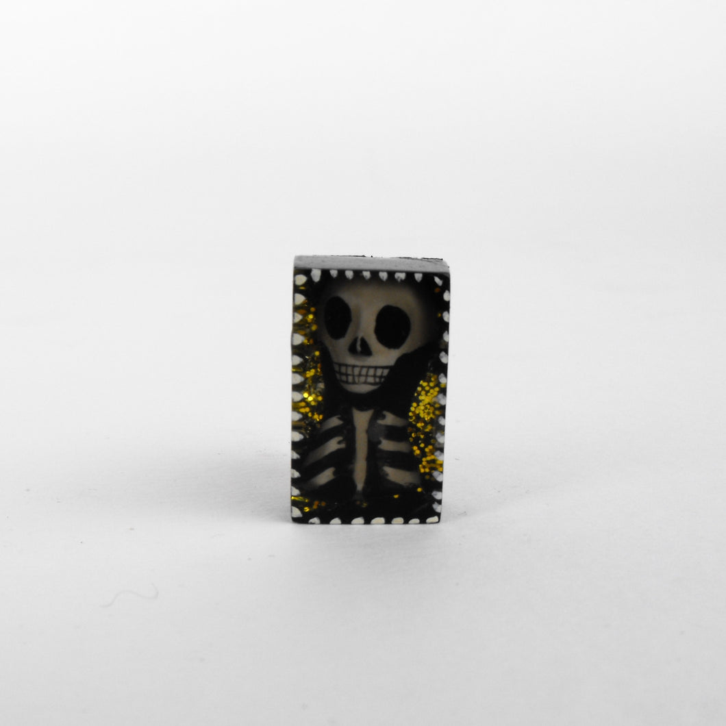 Skeleton brooch