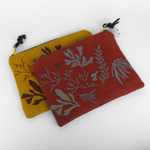 Load image into Gallery viewer, Rust Embroidered Seaweed Pouch