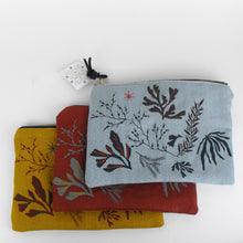 Load image into Gallery viewer, Mustard Embroidered Seaweed Pouch
