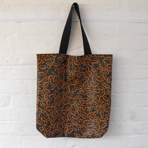 Balloon Dog Print Long Handle Tote Bag