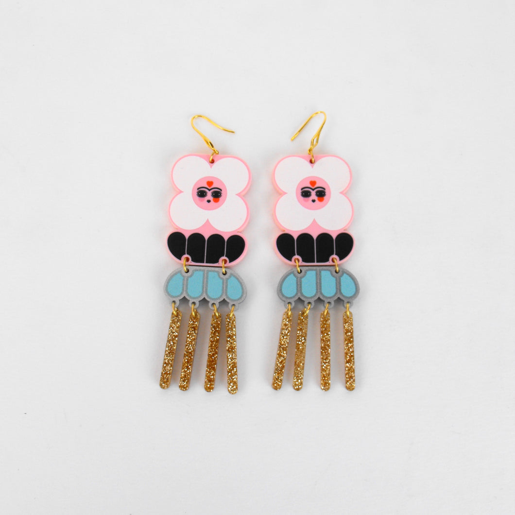 Frida Piensa en Diego Earrings / Frida Thinks of Diego Earrings