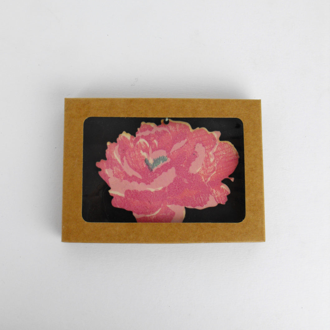 Single Wooden Heart Decoration - Heart or Peony