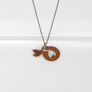 Wren Silhouette Necklace