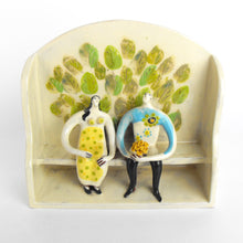 Load image into Gallery viewer, 'Pew Group - The Bunch Of Yellow Flowers' Ceramic Sculpture