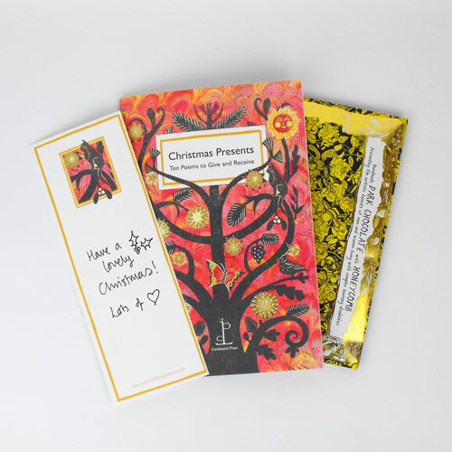 Christmas Presents Gift - Chocolate & Poem Book Card