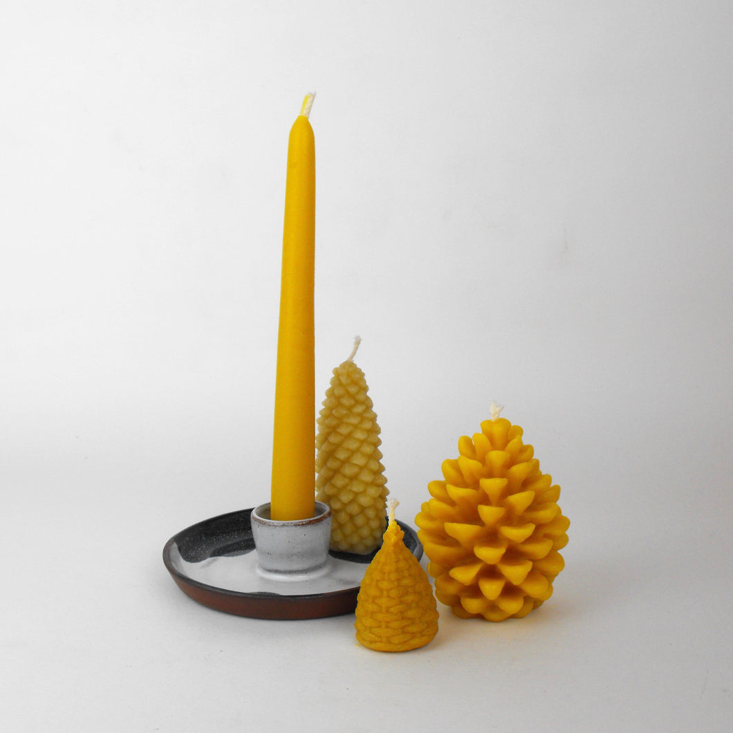 Silvia K Candle holder and Beeswax Candle Gift