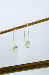 Long Silver Large Seed Earrings