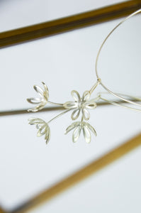 Silver Outline Fritillaria Necklace