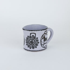 Lilac Illustrated Jug