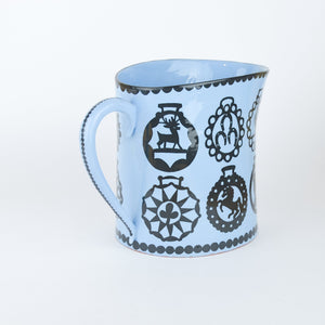 Blue Illustrated Jug