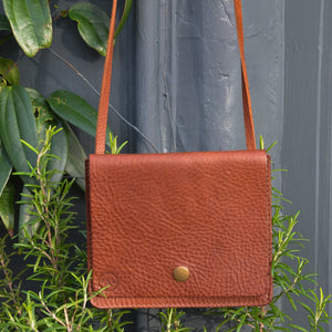 Tan Leather Cross Body Handbag