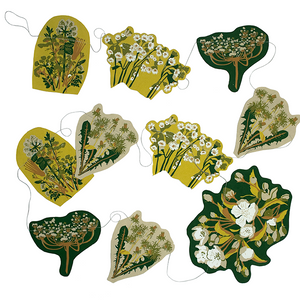 Spring Hedgerow Screen Printed Paper Garland