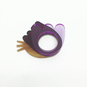 Flower Shape Rings - set of three