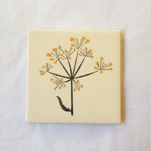Cow Parsley Seeds Tile