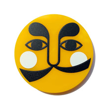 Load image into Gallery viewer, Antonio el Sol Amarillo (Antonio the Yellow Sun) brooch