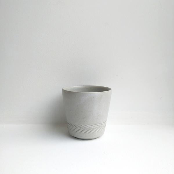 Carved Herringbone Beaker