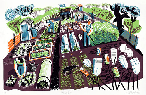 May Day print by Clare Curtis