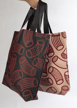 Load image into Gallery viewer, Macaroni Print Long Handle Tote Bag