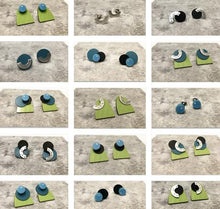 Load image into Gallery viewer, Black, Teal and Green Interchangeable Earrings
