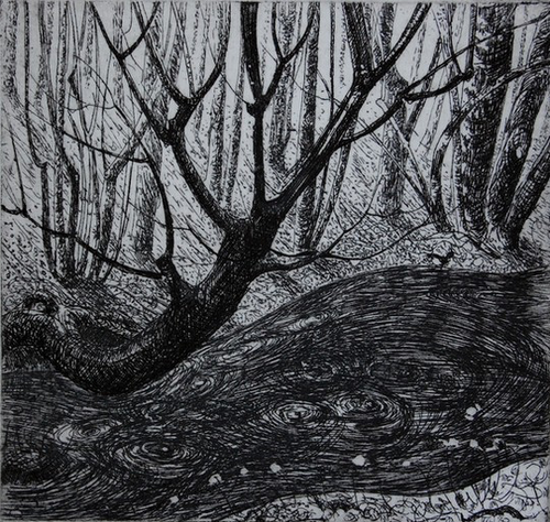 The stream - etching