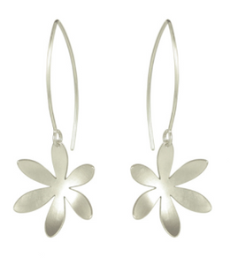 Silver Fritillaria Side hanging Earrings