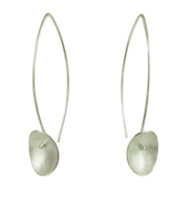 Load image into Gallery viewer, Long Silver Large Seed Earrings