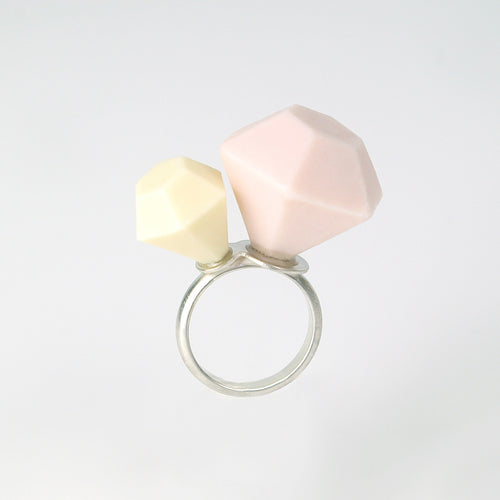 'Ring Pop' ceramic and sterling silver Ring