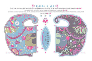 Elvera & Len Tea Towel  / Cloth Kit - A silkscreen design